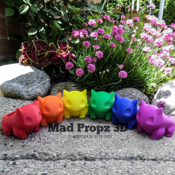 Limited Time Sale Dirt Bonus gifts Bulbasaur Planter by MadPropz3d