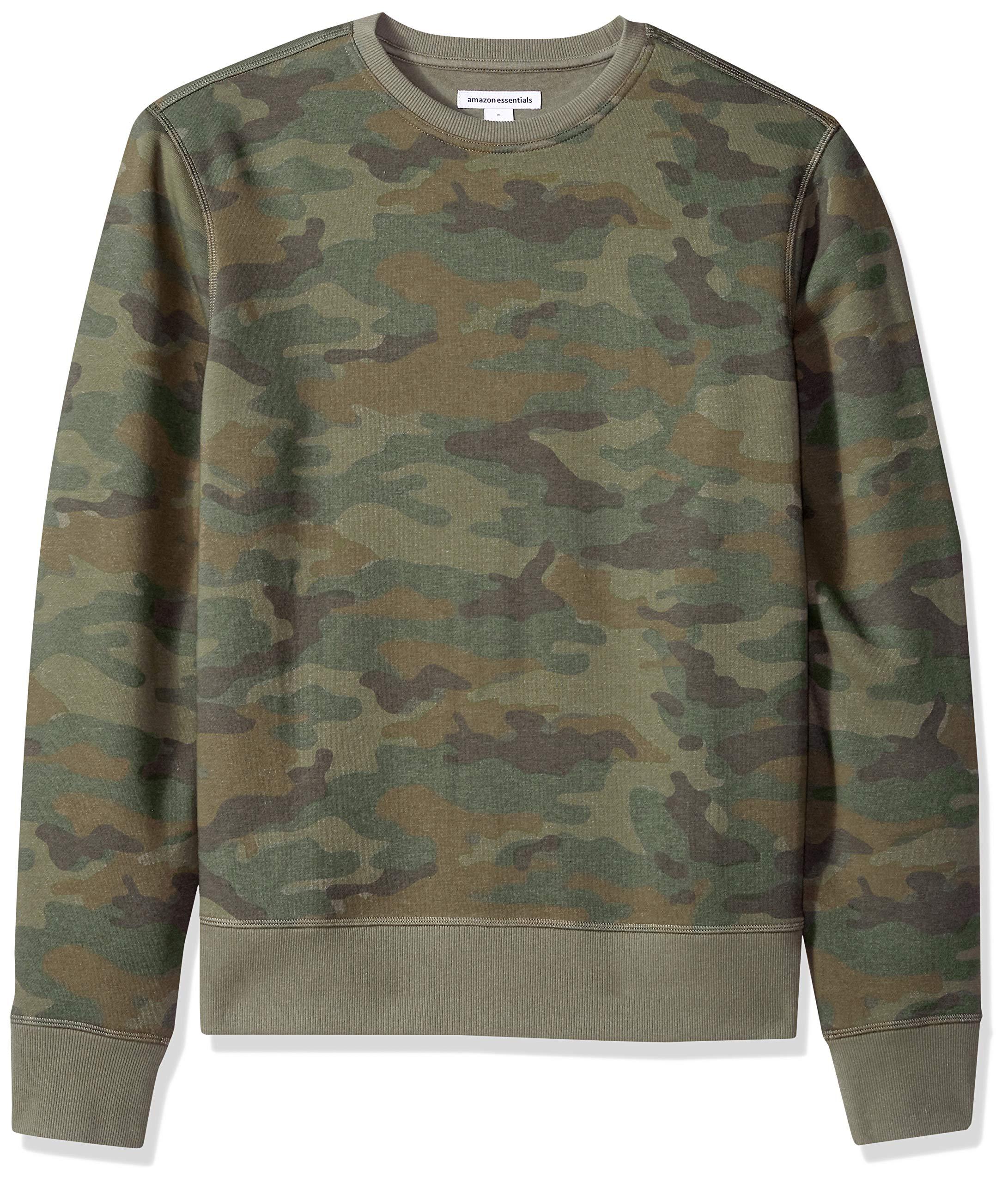 Amazon Essentials Men's Crewneck Fleece Sweatshirt, Camo, X-Large