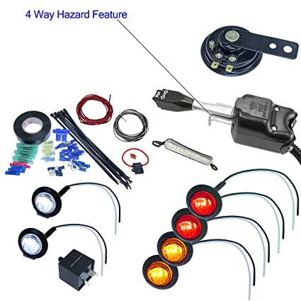 Amazon.com: UTV Heavy Duty Lever Turn Signal Kit with Horn and ... on simple turn signal diagram, whelen strobe lights diagram, signal light relay, chevy turn signal diagram, turn signal flasher diagram, turn signal circuit diagram, signal light schematics, turn signal schematic diagram, traffic signal load switch diagram, signal phasing diagram, alternating current diagram, basic motorcycle diagram, signal light cover, power amplifier circuit diagram, traffic light diagram, easy 3 way switch diagram, universal turn signal switch diagram, house electrical circuit diagram, signal light connector, signal light switch,