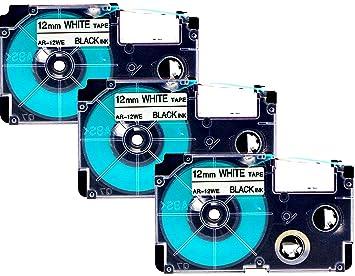 Schriftband für CASIO Label Printer 9 mm breit 8 m lang