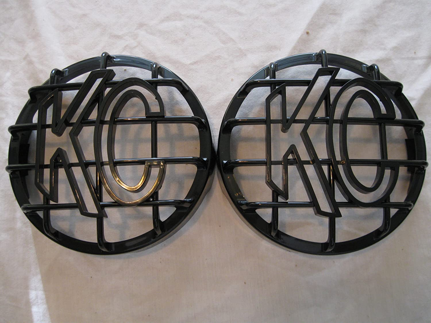 KC HiLiTES 6' Grill Guards, KC Light Covers Solid Black SET OF 2 (NOT for APOLLO) Arizona Off Road Outfitters