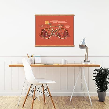 "DKNG Mesa 20/""x16/"" Desert Road Bike//Bicycle, Silkscreen Art Print//Poster"