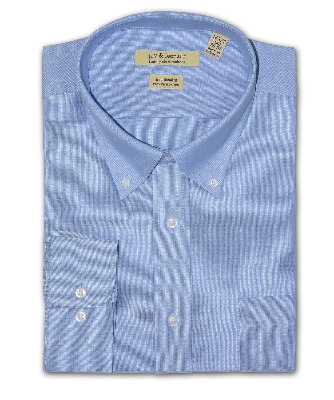 Jay and Leonard Big and Tall Oxford Dress Shirt Blue