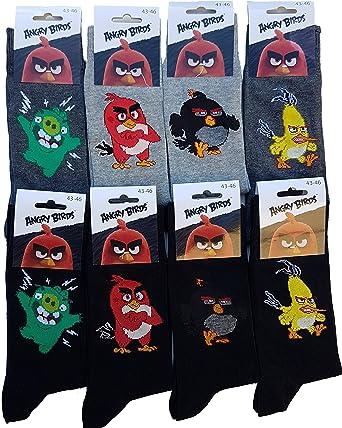 Angry Birds - Medias de fútbol - para hombre multicolor Pack de 8 asst2: Amazon.es: Ropa y accesorios