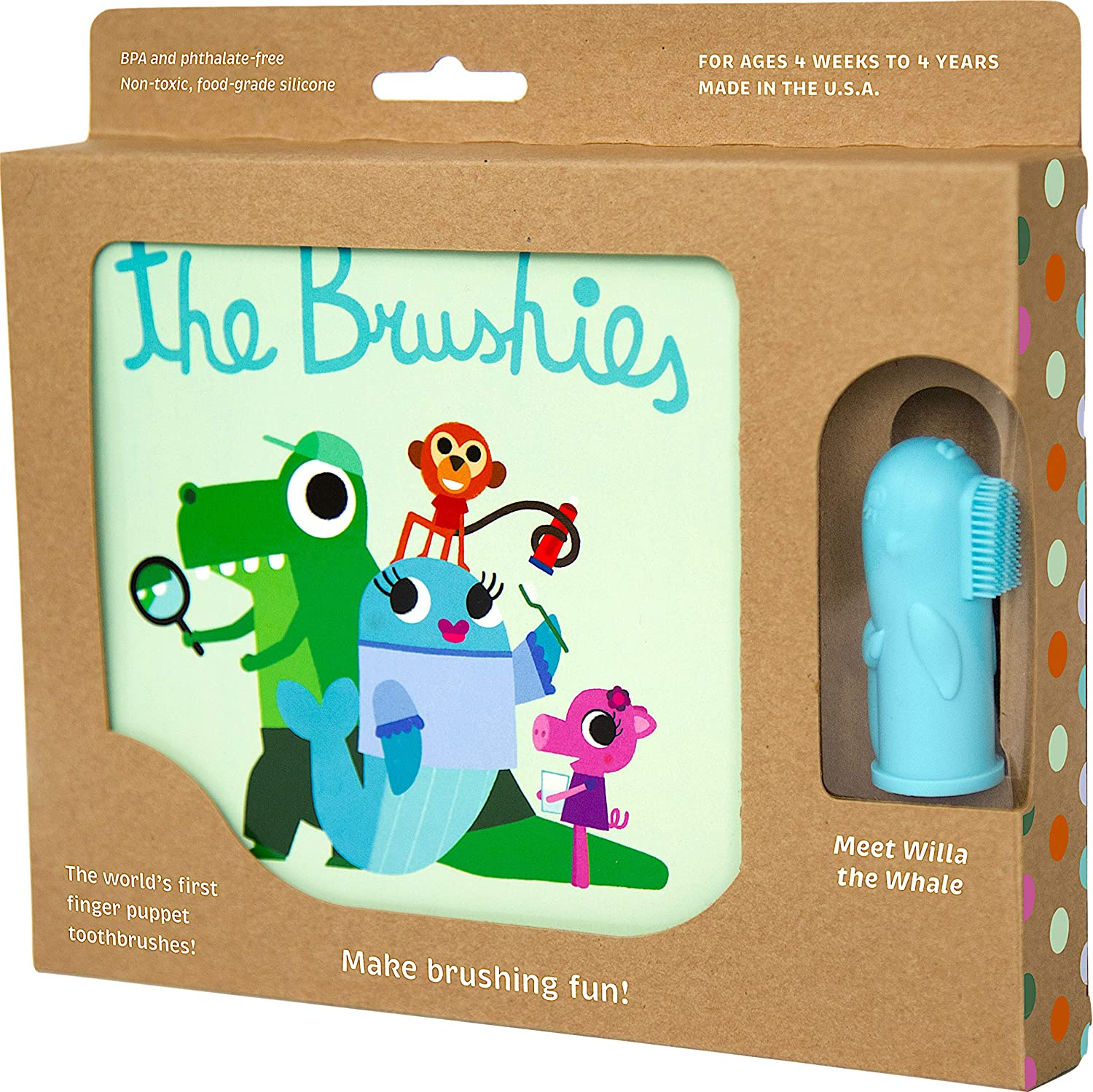 Baby and toddler toobrush and storybook - Team Member: Willa the Whale! The Brushies 101072