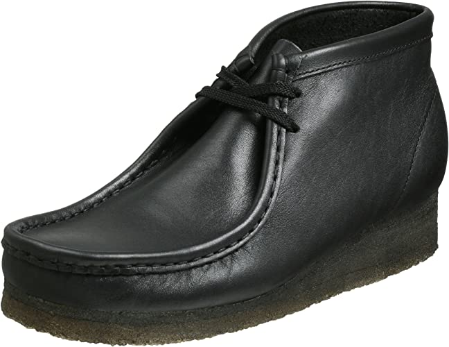 Black Leather CLARKS Men/'s Wallabee Boot