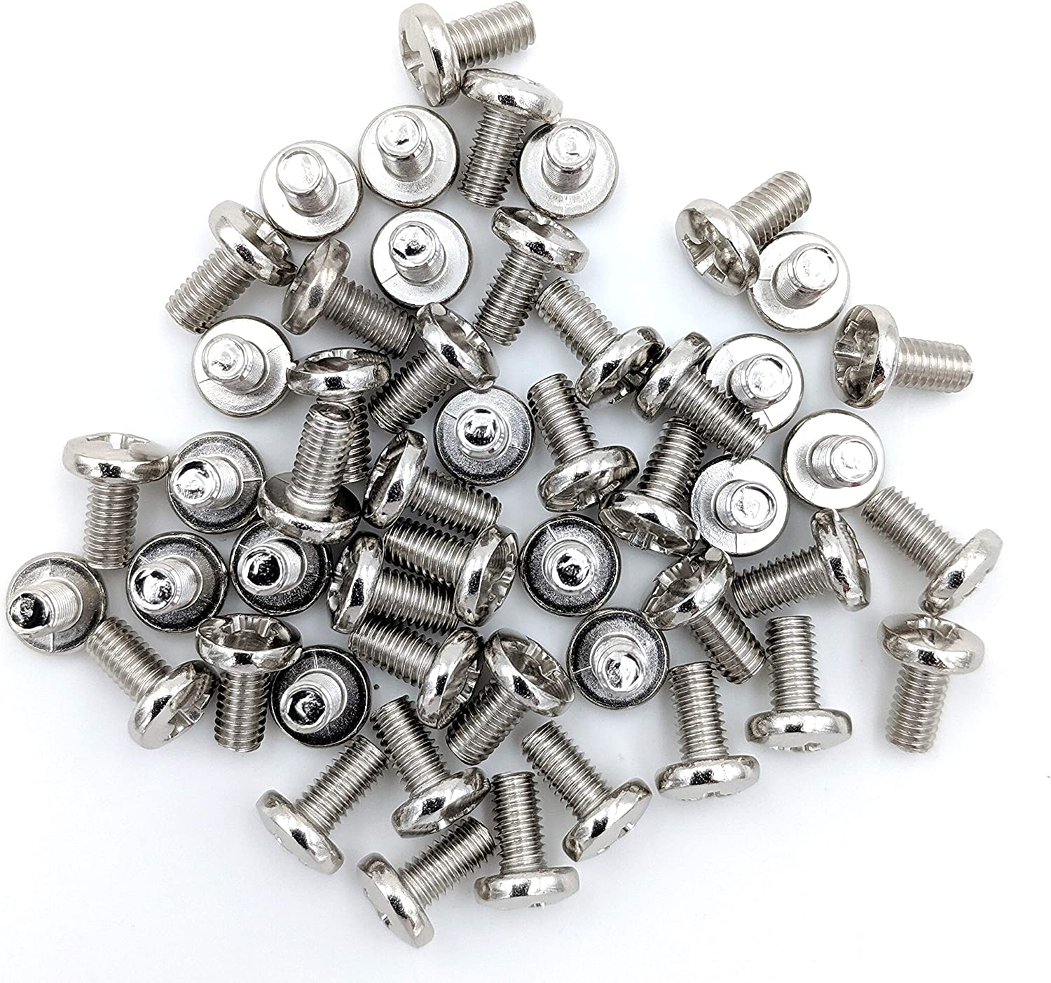 Screws for CB and 10 Meter Radios Cover 50 50-Pack Nickel Plated Chrome Cabinet
