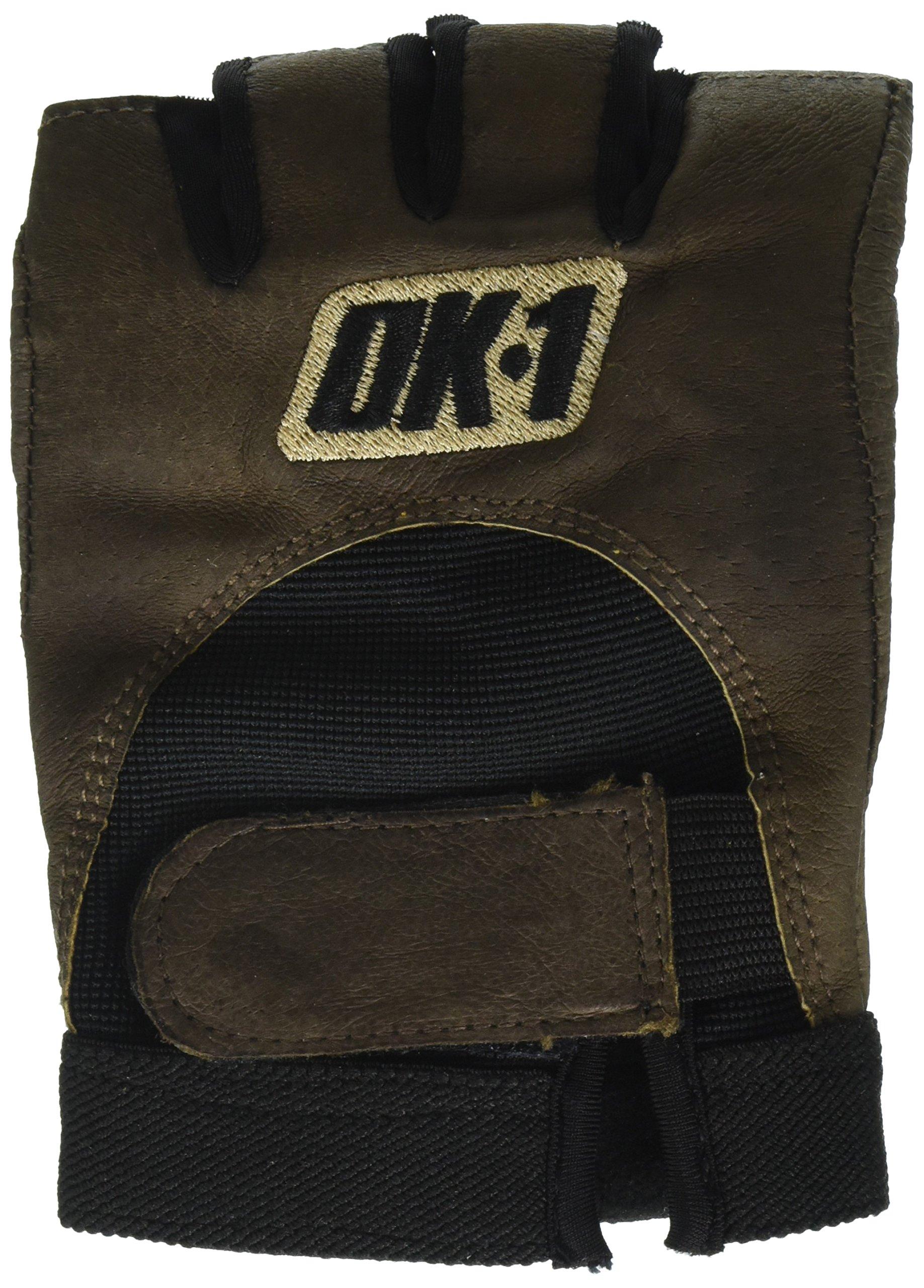 OK1 GLV1027M Half-Finger Impact Gloves, Medium, Brown (Case of 4)