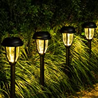 8-Pack Gigalumi Outdoor LED Solar Path Lights