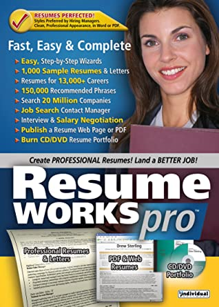 Amazon.com: Resume Works Pro [Download] [OLD VERSION]: Software