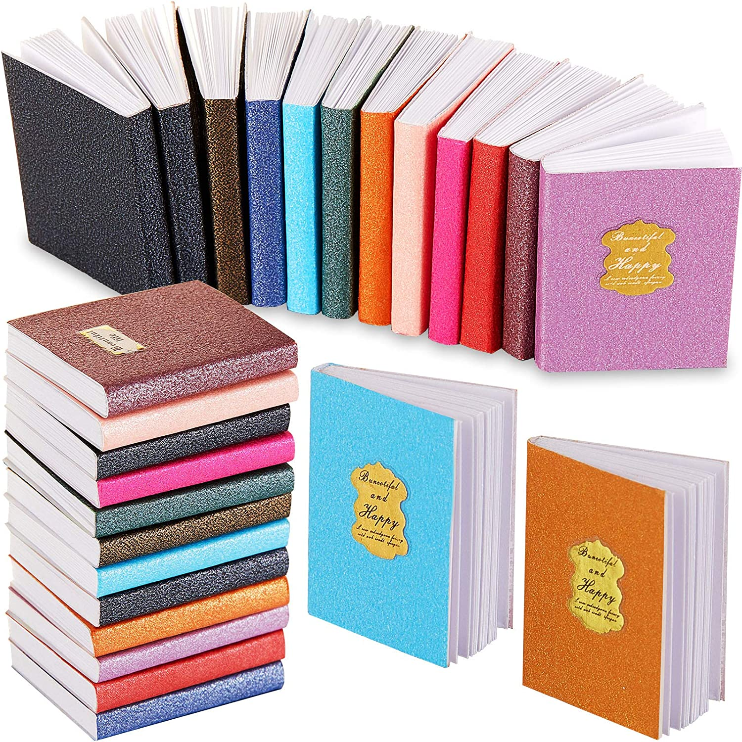 24 Pieces 1:12 Scale Miniatures Dollhouse Books Assorted Miniatures Books Dollhouse Mini Books Dollhouse Decoration Accessories Doll Toy Supplies for Boys Girls Pretend Play