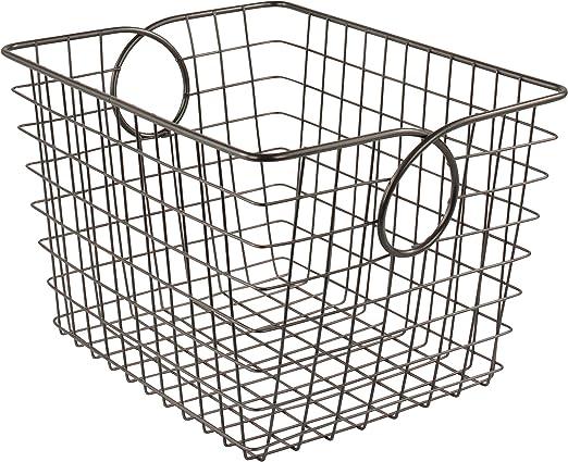 Small Industrial Gray Spectrum Diversified Wire Storage Basket
