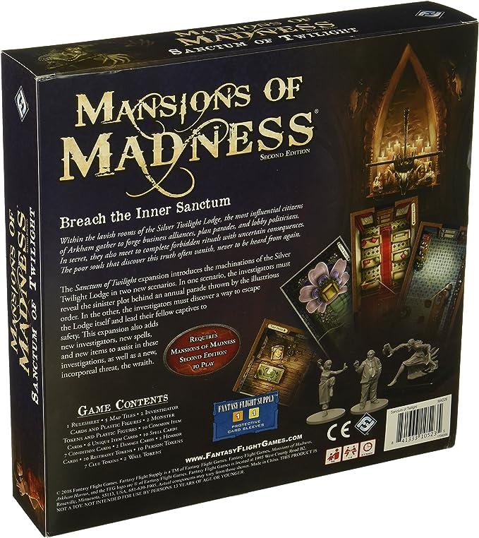 Fantasy Flight Games Mansions of Madness Sanctum of Twilight ...