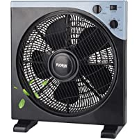 Bodenventilator Ø33 cm 40 Watt | Ventilator | Rotation zuschaltbar | oszillierend | leiser Betrieb | Luftkühler | Windmaschine | geeignet für Büro, Schlafzimmer, Wohnzimmer | (33 cm)