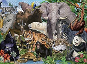Vicflare 1000 Piece Animal Jigsaw Puzzle - Animal World, Family Educational Entertainment Puzzle for Kids Adults(Animal 19)