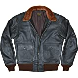 FIVESTAR LEATHER Men's G-1 Buaer 55j14 US Naval Military Spec Leather Flight Bomber Jacket
