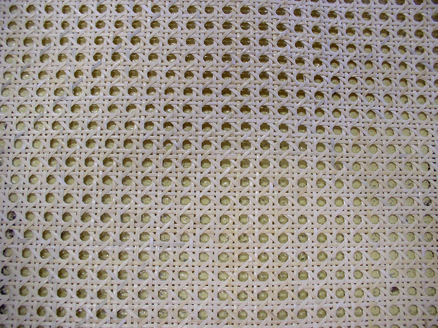 "Cane Webbing Standard Size Fine Open 1/2"" Mesh, 18"" Wide, Sold by The Running Foot, Qty of 1 = 12"", Qty of 2 = 24"", Qty of 3 = 36"" and so on."
