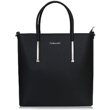 Edler Damen Shopper Elegante Handtasche Henkeltasche Schultertasche Groß Schwarz