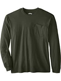 Key Apparel Men's Big-Tall Heavyweight Long Sleeve Pocket T-Shirt