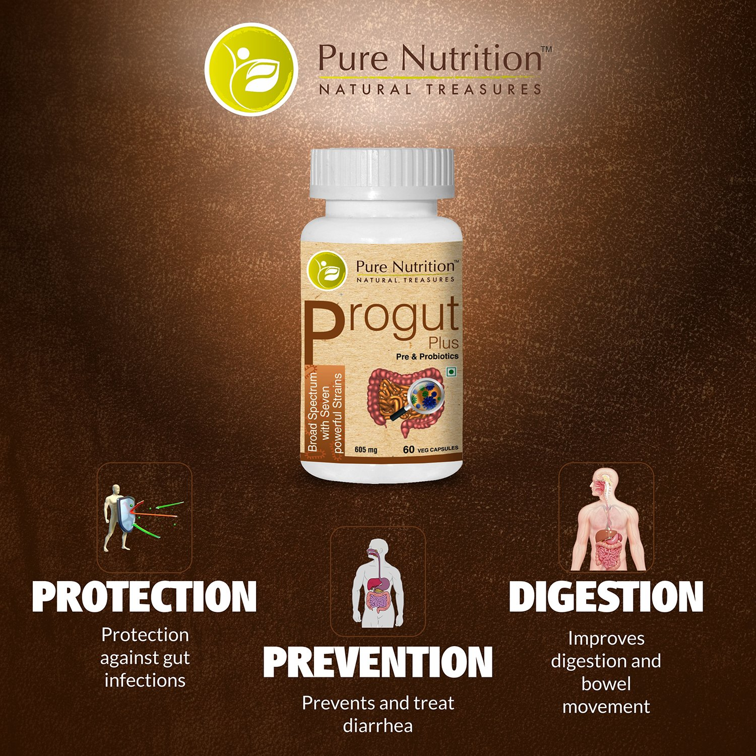 Amazon.com: Pure Nutrition Progut Plus - Powerful blend of Pre and ...