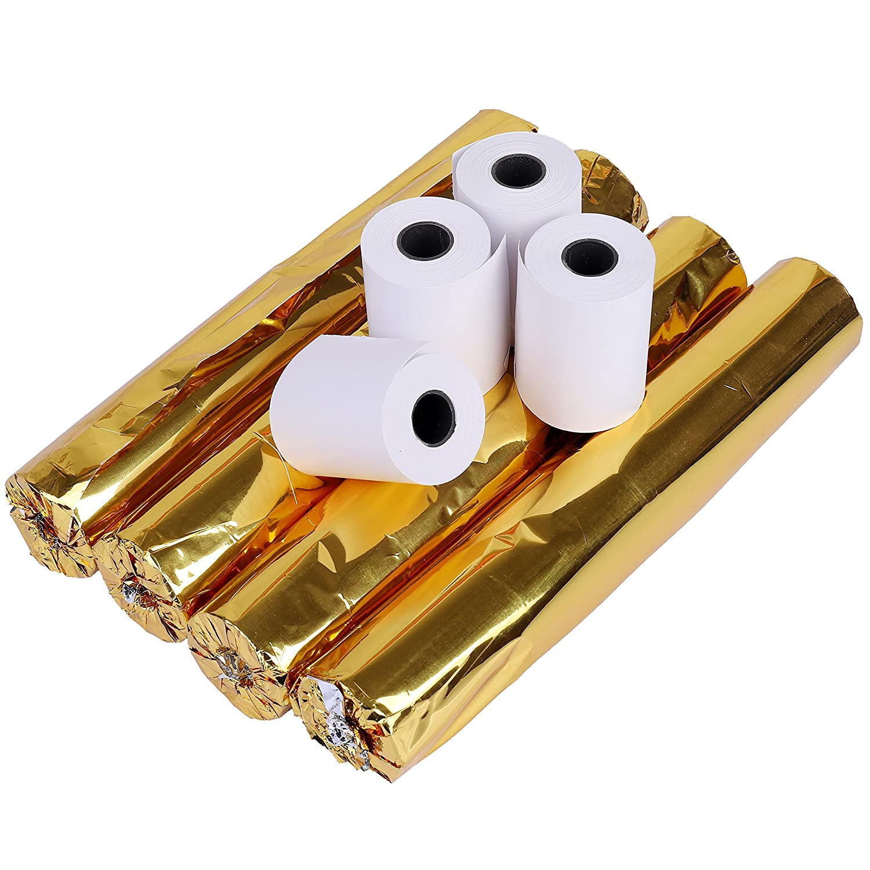 Papier thermique Emballage 20 rouleaux 57X40 mm 100/% pur papier de p/âte de bois dimpression clairement approuv/é pour Supermarch/é Sup/érette