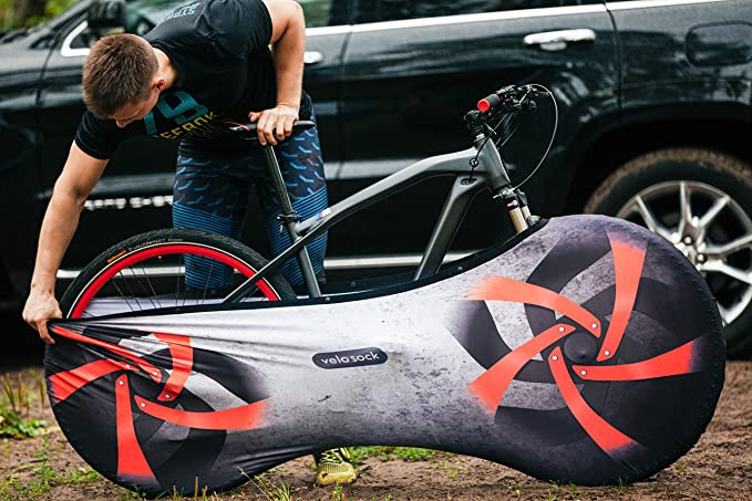 Amazon.com : VELOSOCK Bicycle Bike Cover for Indoor Storage - Firebird PRO Edition with Handy snap Fasteners - Keeps Floors and Walls Dirt-Free - Fits 99% ...