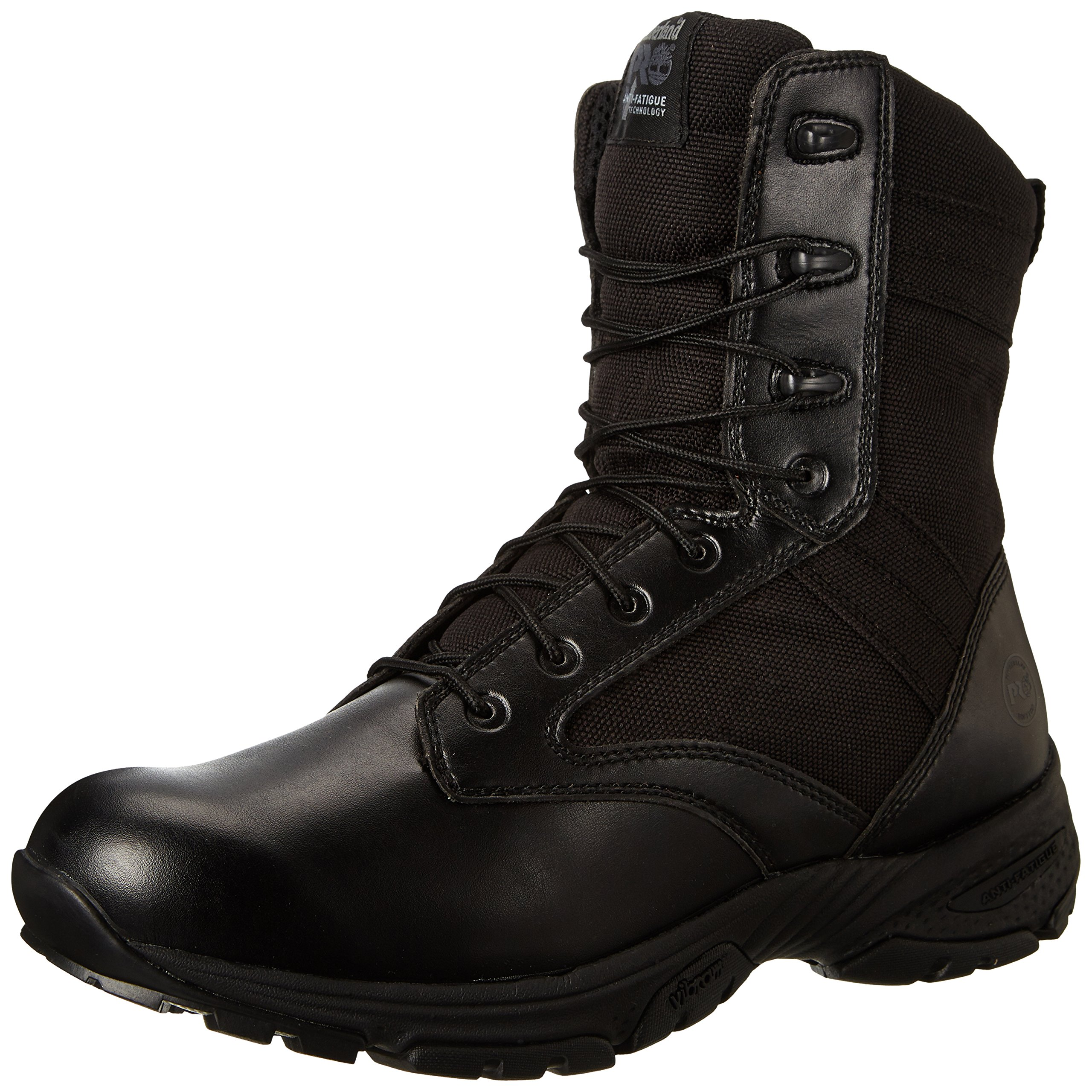 Timberland PRO Men's 8 Inch Valor Soft Toe Black Duty Boot,Black Smooth With Textile,10 W US
