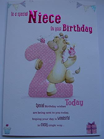 Special Niece 2nd Birthday Card Age Two 7903 Amazon Office