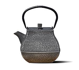 "Old Dutch International 1062SB Silver/Black Cast Iron""Meiyo"" Teapot, 44 Oz,"