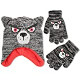 ABG Accessories Little Boys Wolf Critter Hat and
