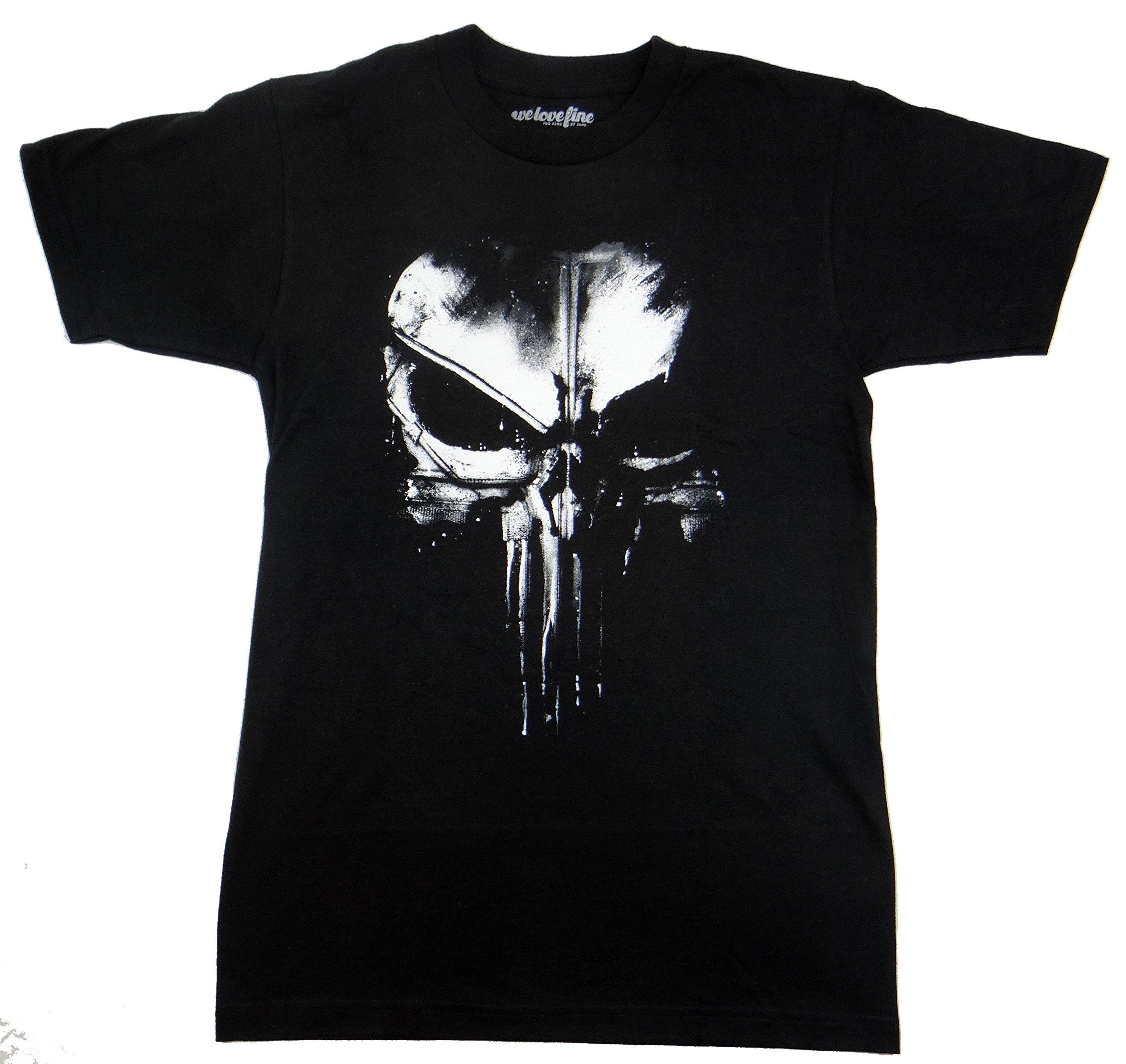 Marvel The Punisher Dirty Skull T-shirt (XXL,Black)