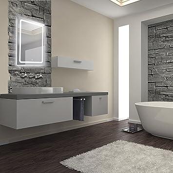 Badezimmerspiegel Beleuchtet krollmann badspiegel mit led beleuchtung 50x70cm badezimmer spiegel