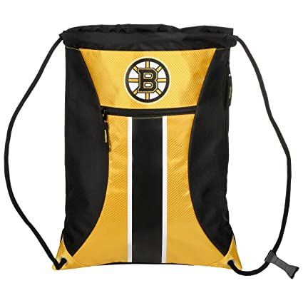 6bf4a2e719e Amazon.com : Boston Bruins Big Stripe Zipper Drawstring Backpack ...