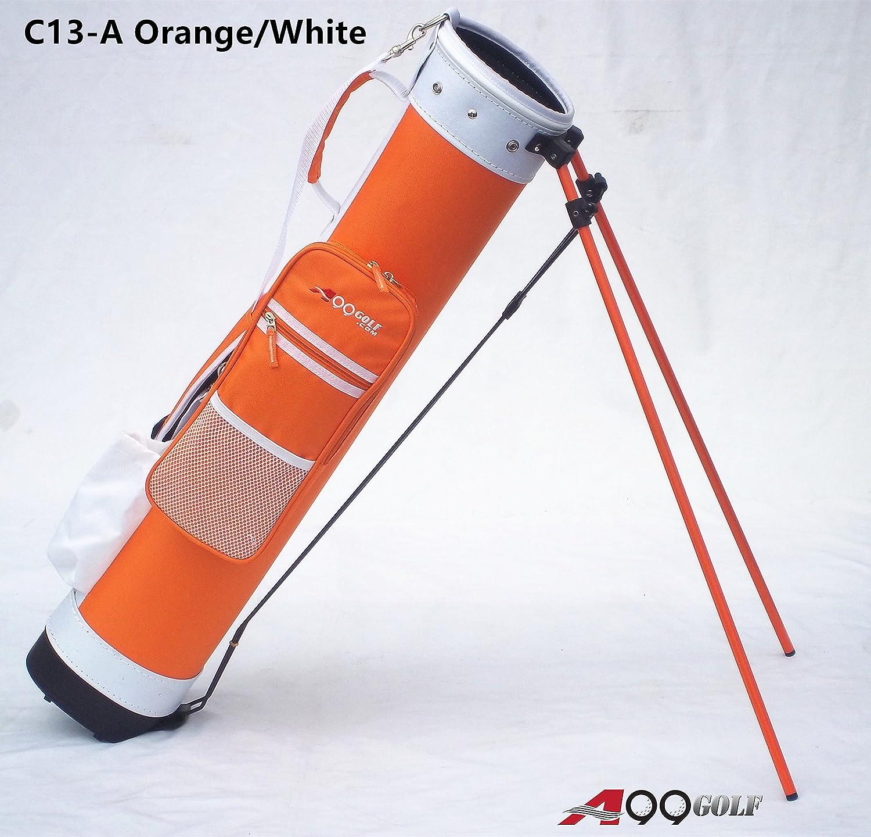 c13-a a99ゴルフ範囲日曜日鉛筆Carry Praticeゴルフバッグ取り外し可能な上部カバーWスタンド B01IT53EC8 オレンジ/ホワイト オレンジ/ホワイト