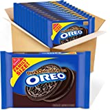 OREO Dark Chocolate Crème Chocolate Sandwich Cookies, 12 - 17 oz Family Size Packages