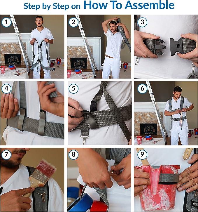 Arnés de herramientas de pintura, soporte, tirantes, cinturón ...