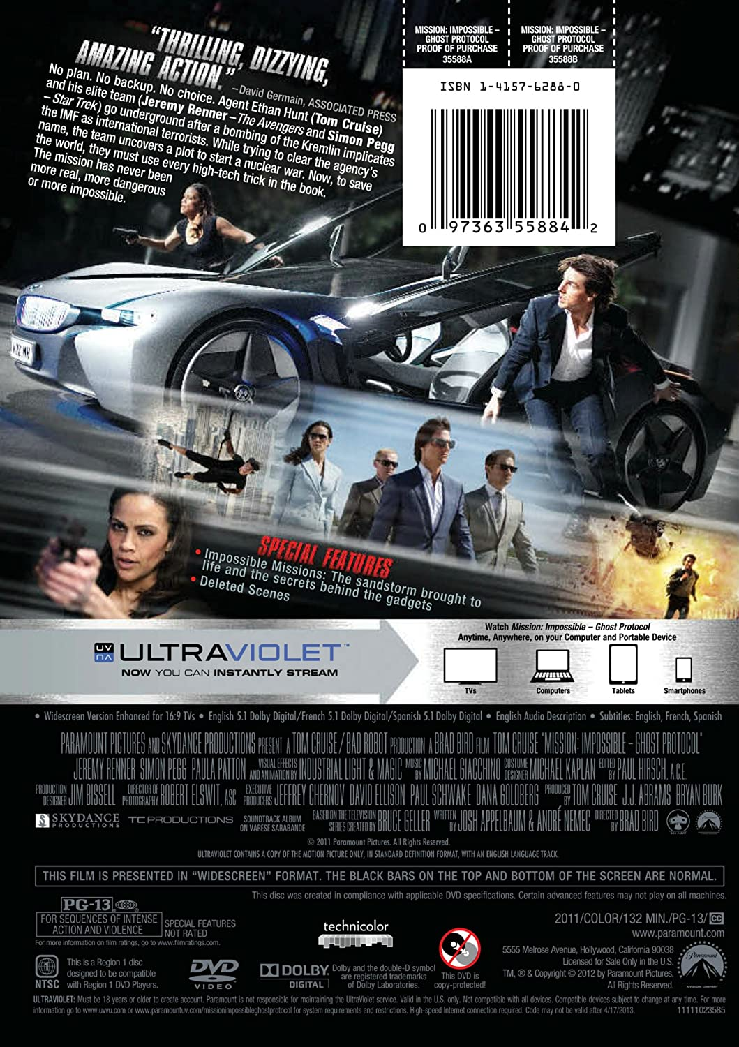 Amazon com: Mission: Impossible Ghost Protocol: Tom Cruise