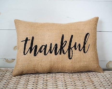 Amazon.com: Funda de almohada de agradecimiento para la ...