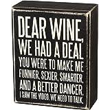 Primitives by Kathy Placa de caixa 27179, 10 x 12,7 cm, Dear Wine.