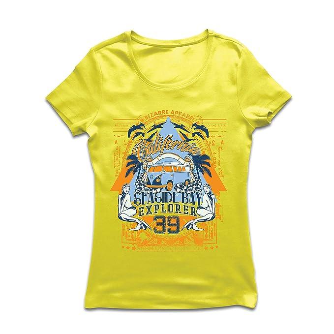 lepni.me Camiseta Mujer Primer Día de California - Explorador de la Bahía Costera - Ropa de Surf: Amazon.es: Ropa y accesorios