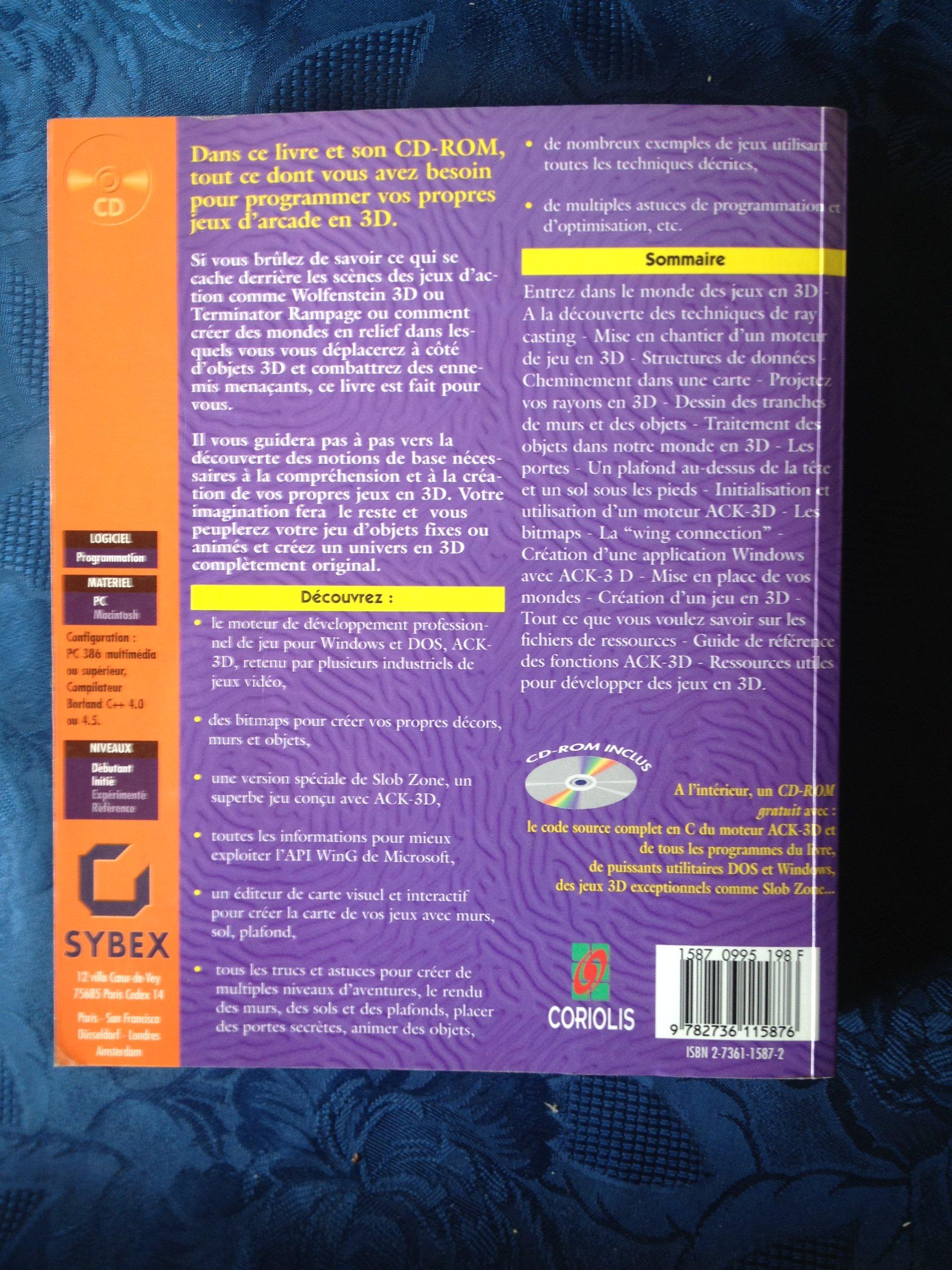 programmation des jeux 3d cd rom