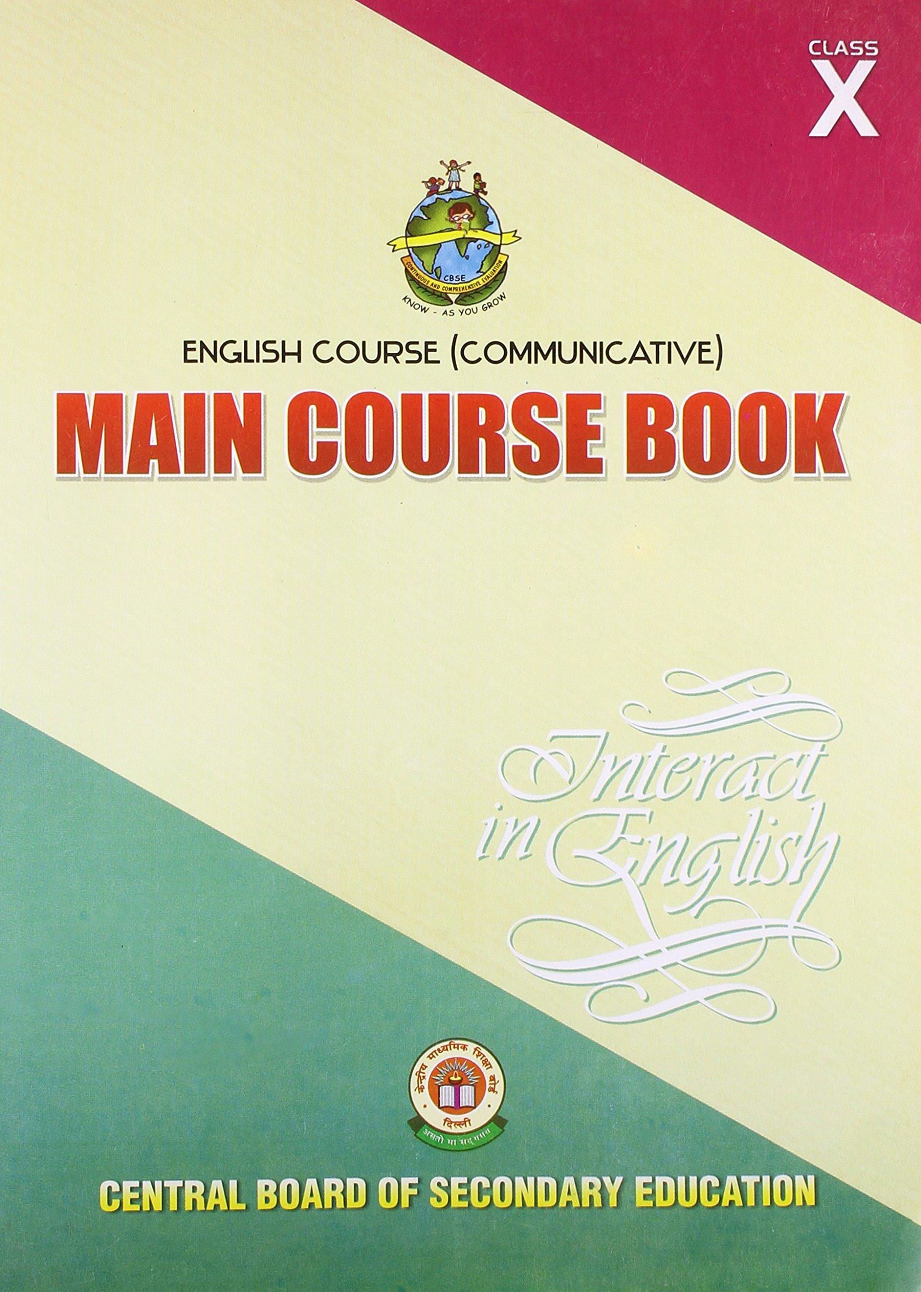 English Course Communicative: Main Course Book Interact in English - Class  10: Amazon.in: CBSE: Books