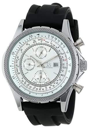 985850395bcda Joshua   Sons Men s Silver Dial Silicone Band Watch - JS-10T-02 ...