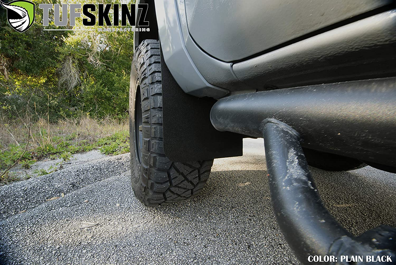 TufSkinz Rear Mud Flaps, Plain - No Logo 2 Piece Kit Mud Flaps Fits 2016-up Toyota Tacoma