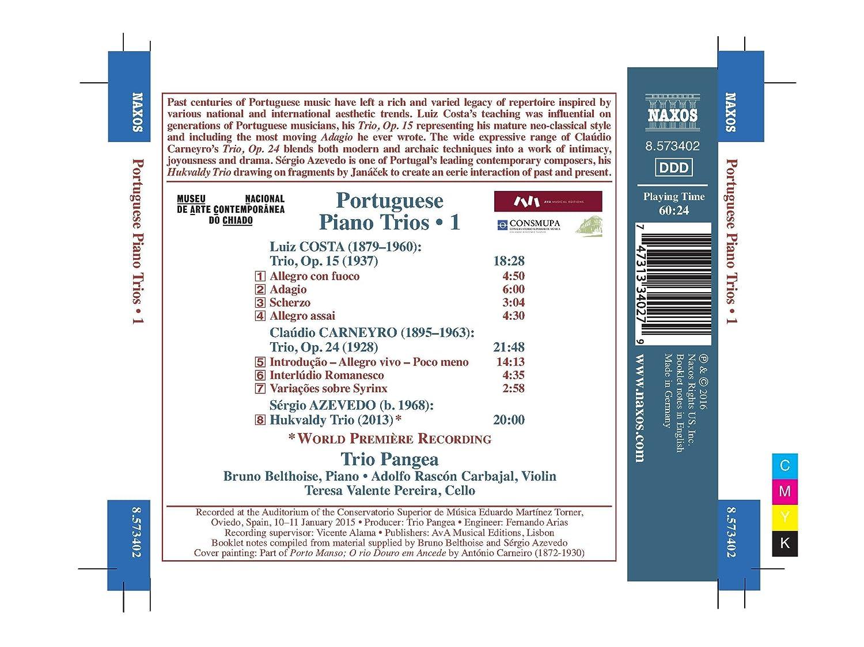 Trios Portugais avec Piano, Vol. 1: Costa/Carneyro/Azevedo, Pangea ...