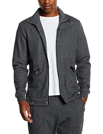 Homme Alle Davanti shirt Collo Gris Aperta Con Felpa Tasche L Sweat Zip Morato Heather Antony E Al xPEvf
