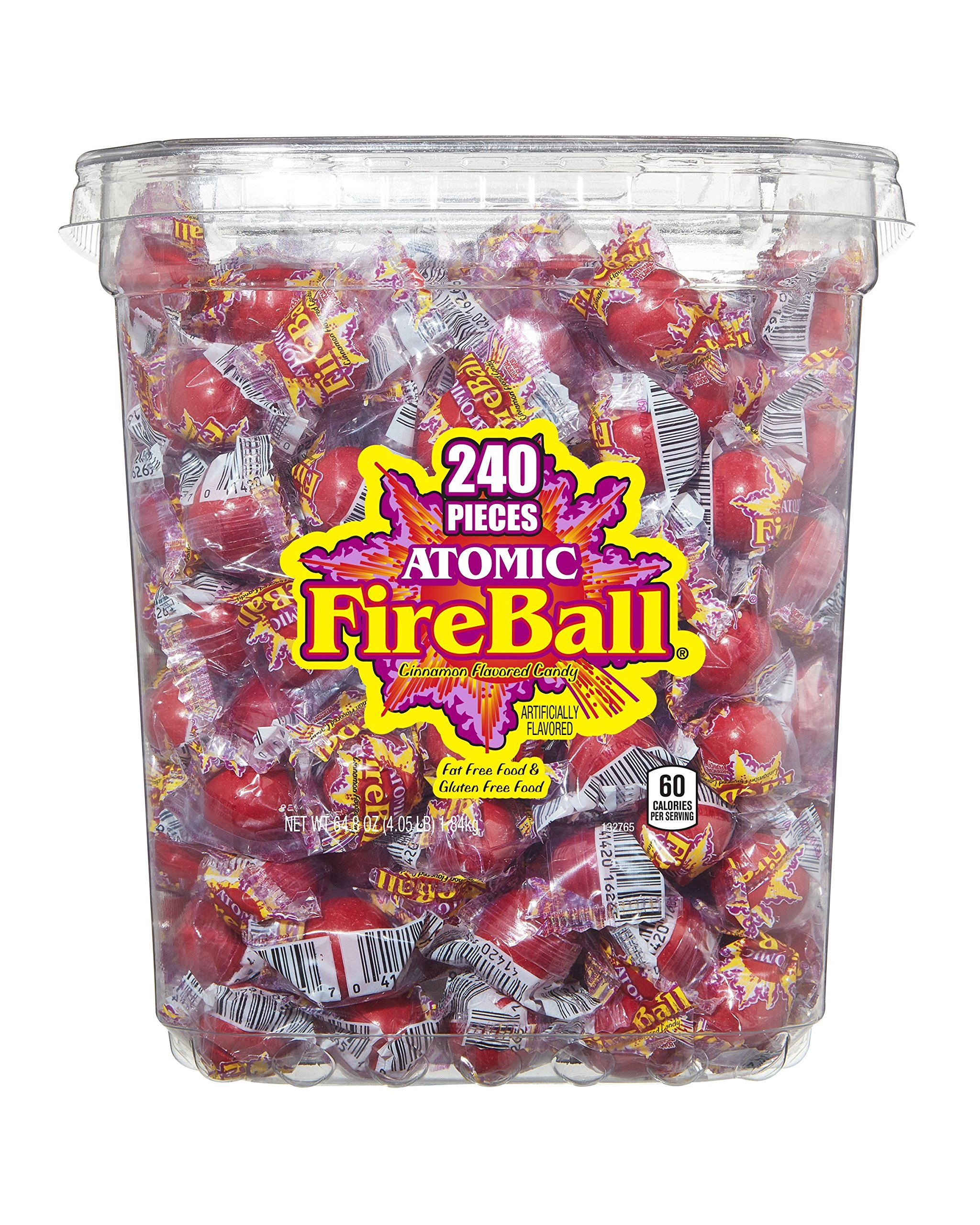 Atomic Fireballs Candy, 4 Pound Bulk Bag