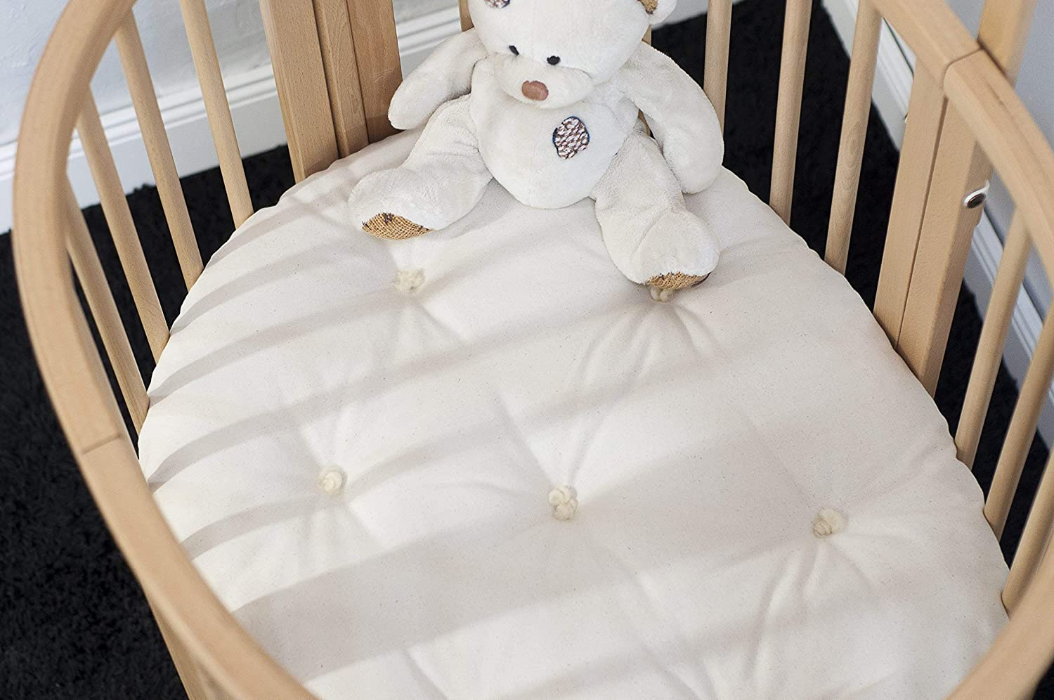 Home of Wool/Handmade Wool-Filled Mattress/STOKKE Sleepi Junior, Bed or Mini Size/Cover - Cotton, Linen or Lambswool/Organic Wool Filling/Non-toxic Nursery Bedding/Custom Sizes Available