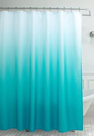 Amazon.com: Creative Home Ideas Ombre Waffle Weave Shower Curtain ...
