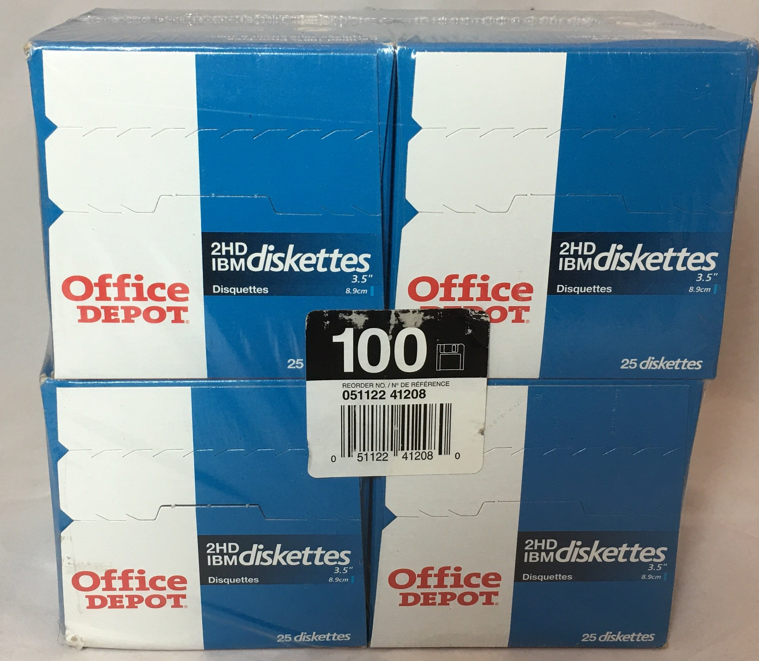 Office Depot Brand 3 1/2'' Bulk Diskettes, IBM Format, 2HD, Black, Box Of 100 by Office Depot (Image #2)
